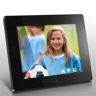 8 Wifi Cloud Digital Photo Frame With Touchscreen Ips Lcd Display 8Gb Built-In Memory 1024 X 768 Resolution