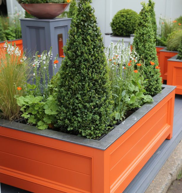 Love the raised garden box with Vibrant Color -- I'm thinking teal in our backyard