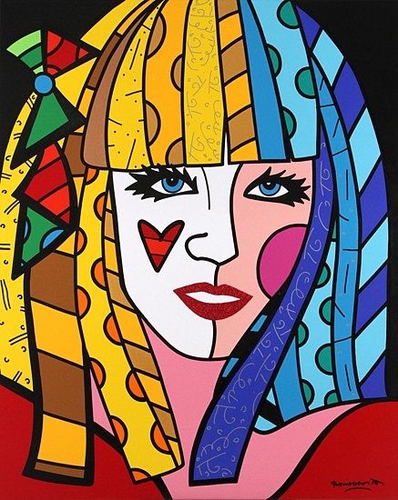 Lady Gaga by Romero Britto portrait idea