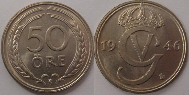 Bilder och information om mynten de svenska mynten 1874-2012
