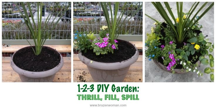 Making your own flowering planter is as easy as 1-2-3. Anyone can do it!