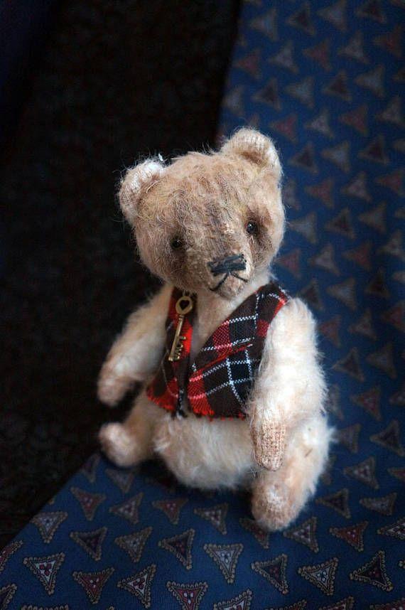 Teddy bear with sawdust OOAK art teddy bear Teddy bear Bear
