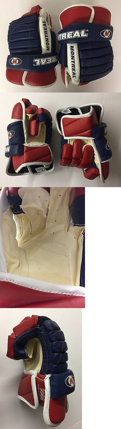 Gloves 20853: Hockey Gloves Blue Red W Leather 14 And 15 , Montreal Brand, Model 9966 -> BUY IT NOW ONLY: $79 on eBay!