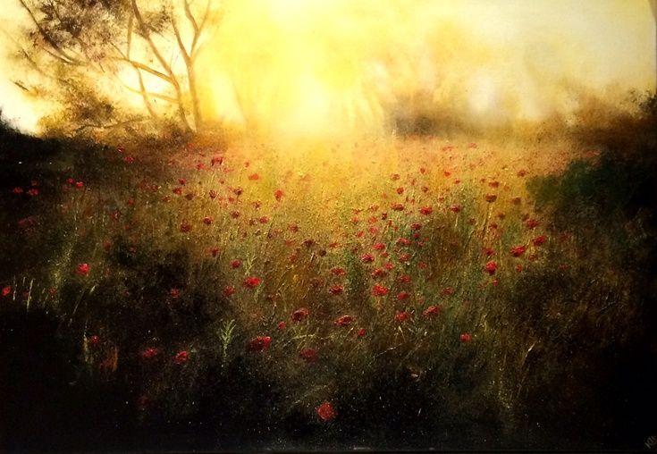ARTFINDER: The Gilted Poppy Field by Kimberley  Harris - SOLD