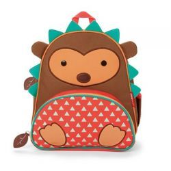 Hedgehog Zoo Pack Kid's Backpack from #skiphop - The front pouch is ideal for snacks and includes extra pockets for pencils and other travel necessities. Comfy padded straps go easy on little shoulders!
