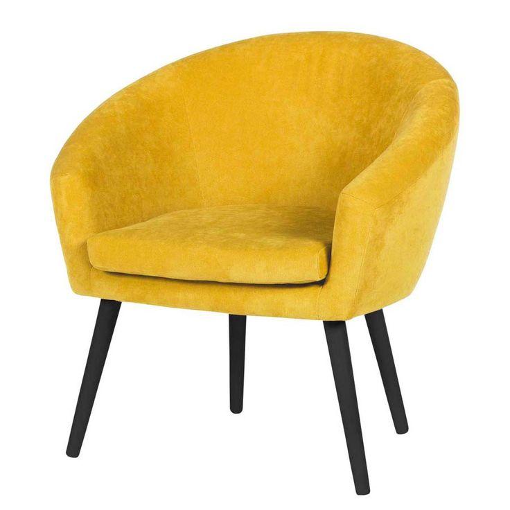 Scandoo żółty fotel styl PRL