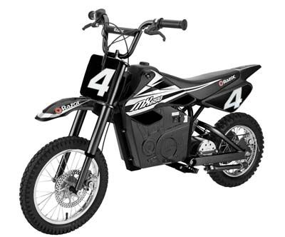 10. Razor 15165001 MX650 Electric Dirt Bike for Kids