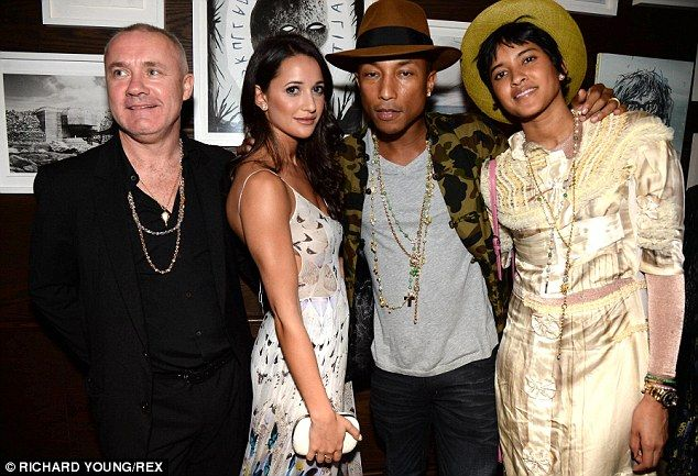 Pharrell Williams Takes Wife To VIP Tracey Emin Dinner In