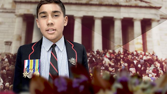 As you saw earlier, Anzac day commemorations were held on Friday. And on that day we were lucky enough to meet a young Aussie with a very special connection to it. His name is Anzac. Here's his story. But first, a warning to Aboriginal and Torres Strait Islander viewers, this story contains images of people who've died.