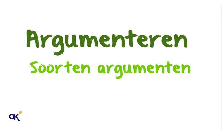 Argumenteren: soorten argumenten (3/4)