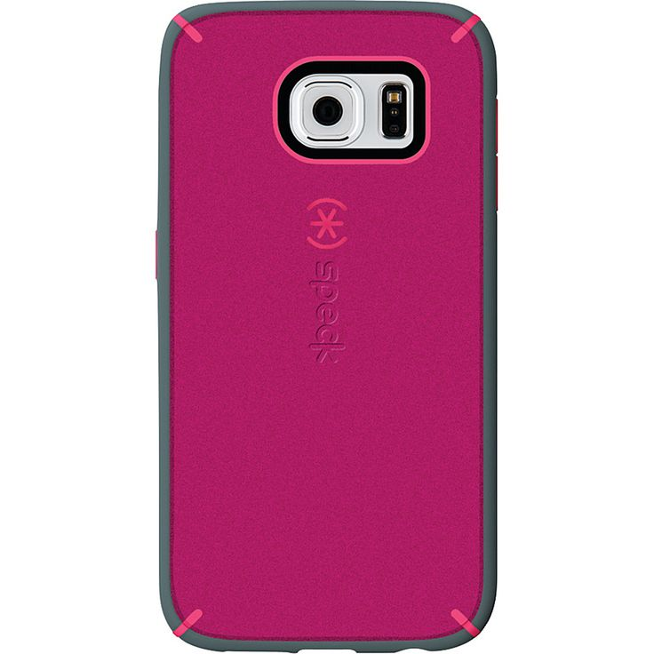 Image of Speck Samsung Galaxy S6 Mightyshell + Faceplate Fuchsia Pink/Cupcake Pink/Heritage Gray - Speck Personal Electronic Cases