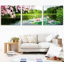 Home Decor Art Painting Tree Flower Landscape Modern Oil On Canvas Wall Picture