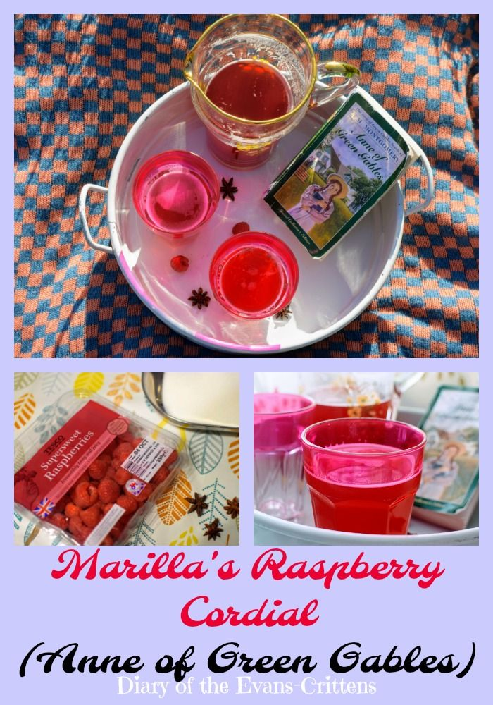 "Making Marilla's Raspberry Cordial from ""Anne of Green Gables"". A season recipe.  #cbias #shop"