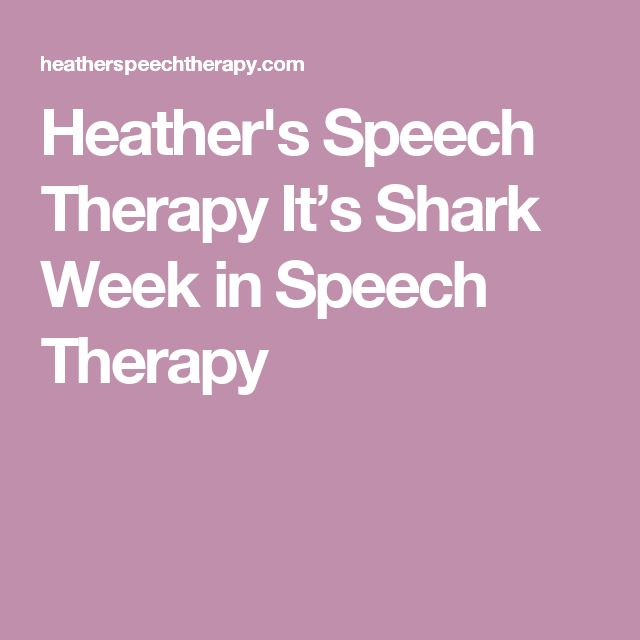 Heather's Speech Therapy  It's Shark Week in Speech Therapy  Pinned by Staffing Options & Solutions, LLC SOS Resources  pinterest.com/sostherapy.
