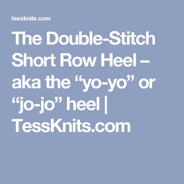 Knitting Expat German Short Row Heel : The double stitch short row heel aka yo or jo