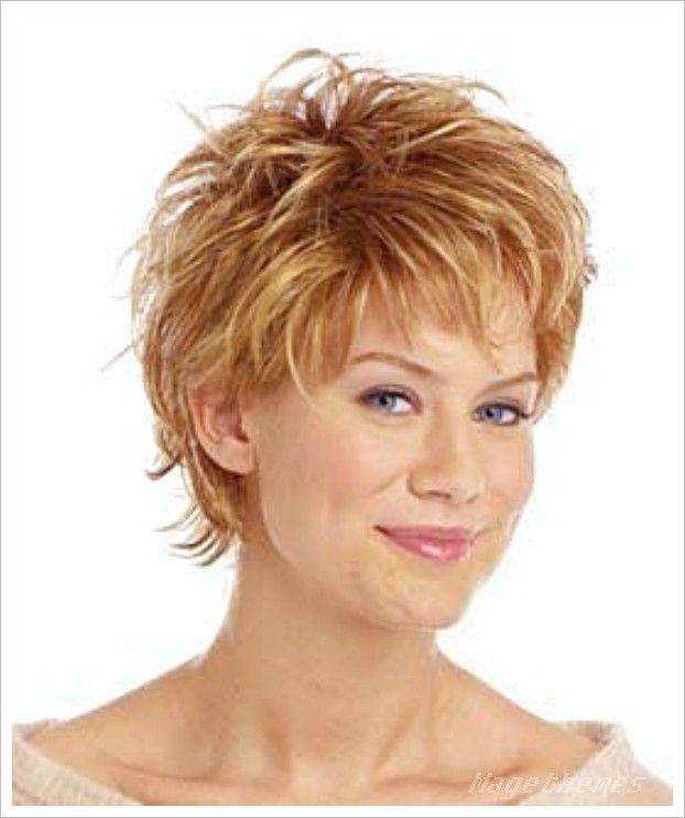 Short Spiky Hairstyles For Round Faces Mage Themes hair styles