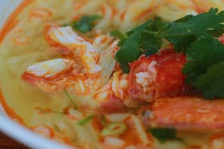 Vietnamese Soul Food: Banh Canh Noodles Soup with Red King Crab Legs- Ba...