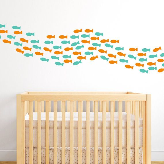 School Of Fish Wall Decals  Fish Decals  by michellechristina