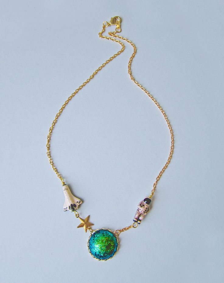 I'm Walkin' Here! Astronaut Necklace — Eclectic Eccentricity Vintage Jewellery