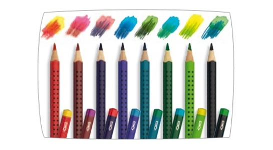 Magic lead creates a magic colour change! Draw with one colour, add water and you have another with our Faber-Castell Colour Grip Magic Duo Pencils. Made in Germany.  www.lavishandlime.com/Faber-Castell-Colour-Grip-Magic-Duo-Pencils-8-pk-p-1374.html#