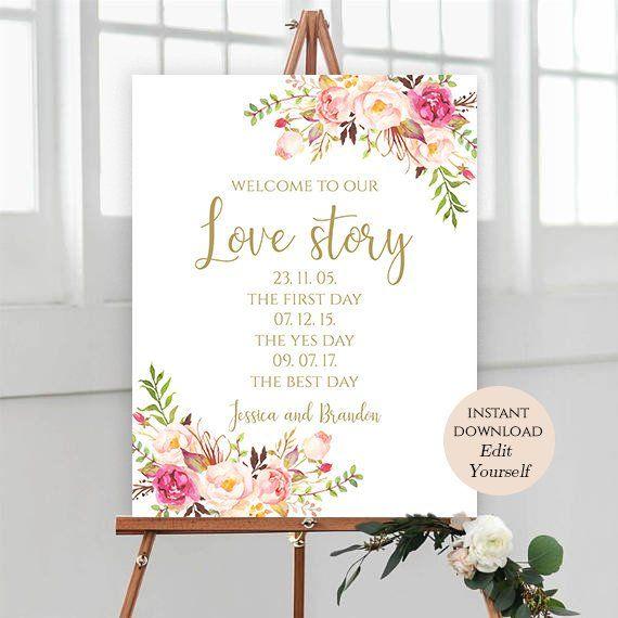 Sign Template Wedding