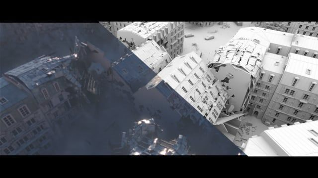 Procedural modeling and destruction done in Houdini for a