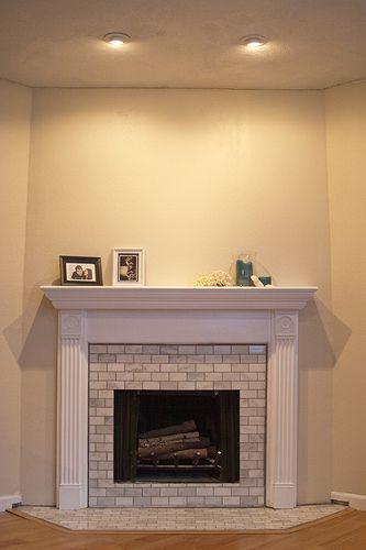 Best 20 Subway Tile Fireplace Ideas On Pinterest White Fireplace Surround White Fireplace