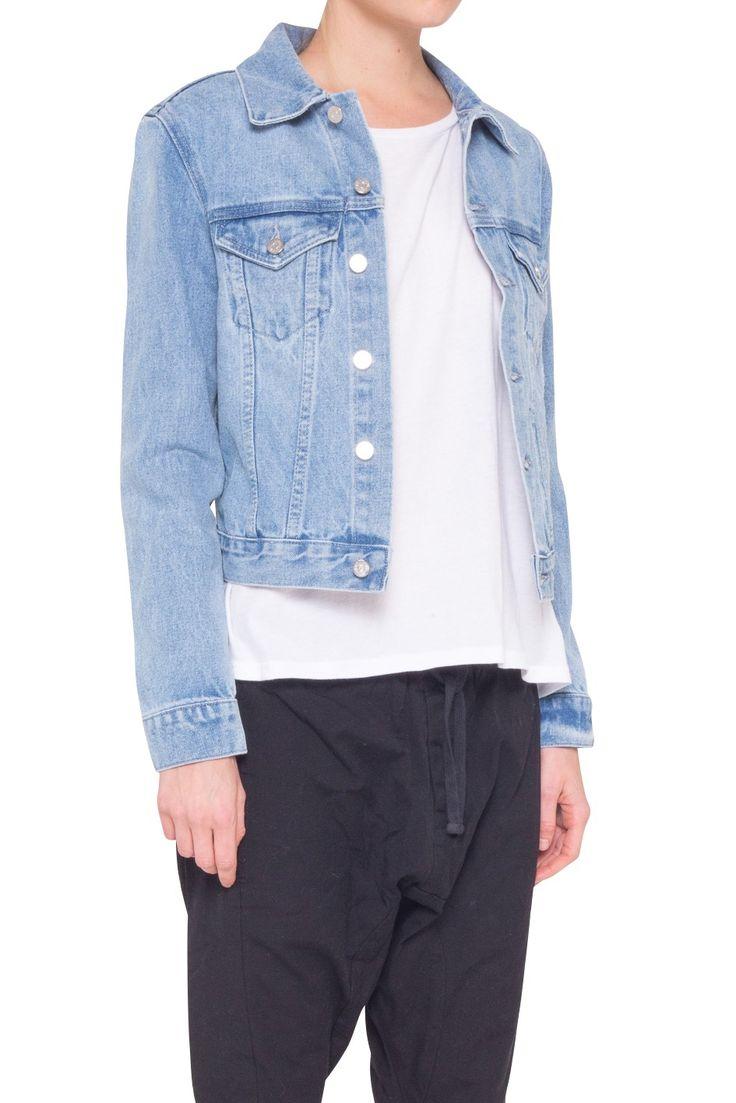 Assembly Label - Femme Denim Jacket In Vintage Wash