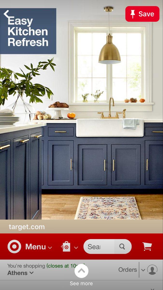Blue Kitchen In 2020 Kitchen Remodel Kitchen Refresh Kitchen