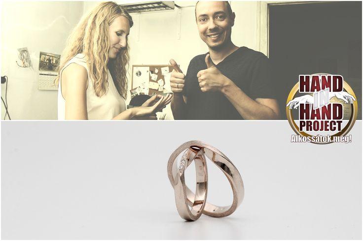Hand In Hand: Nóri és Bálint saját kezűkűleg készített rose arany csavart jegygyűrűi