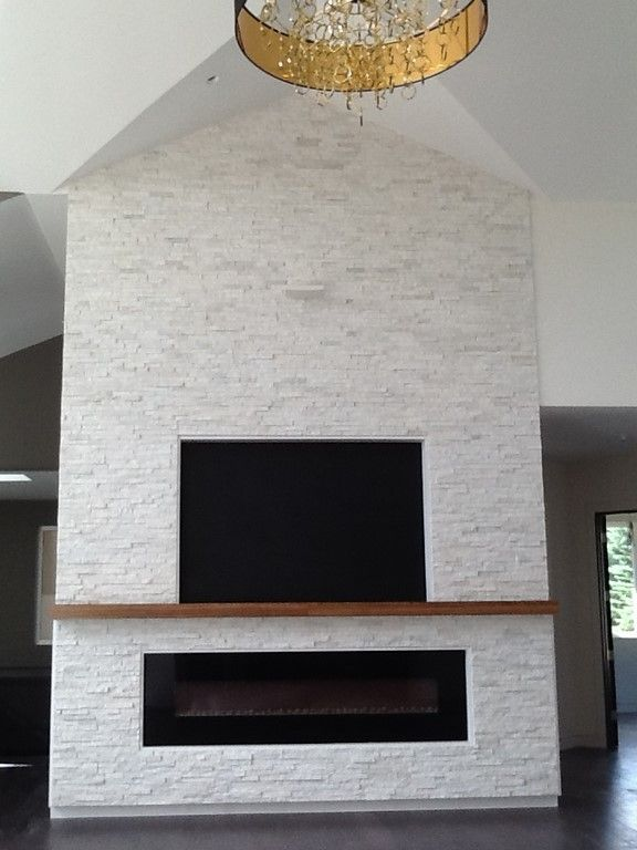 Photo 3 Of 13 In The Swanson Marconi House White Stone Fireplaces Stone Fireplace Brick Fireplace Makeover