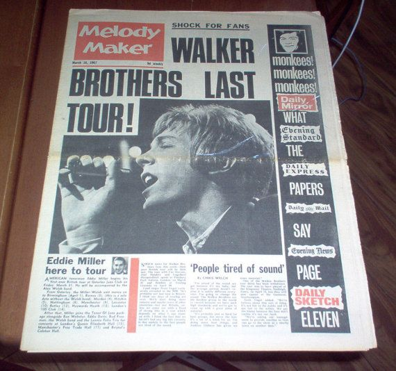 COLLECTIBLE MELODY MAKER NEWSPAPER JULY 20 1974 GREGG ALLMAN ON THE COVER