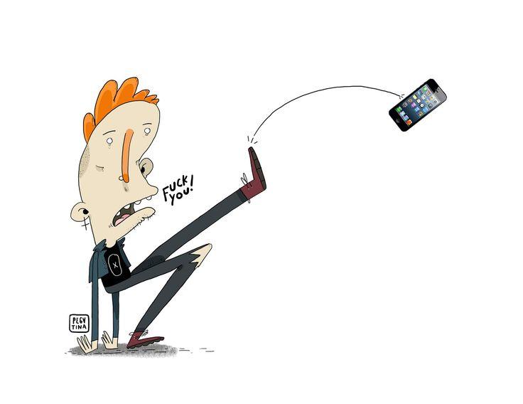 """FUCK YOU  """"Como extraño a mi flechita.""""  Es una cruda realidad pero los dispositivos móviles se han adueñado de las mentes y las vidas de la gente, supuestamente estos bichos fueron hechos para facilitarnos la vida , pero todo es una excusa para chismorrear la vida de las otras personas mientras usted va en transmilenio o envia un gif de un perro cantando con un mensajes religiosos por whatshit que mas tarde se convierte en un meme viral que superan no se cuanto likes mientras el stolquer…"""