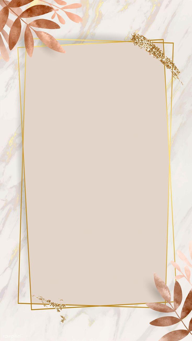 Download premium image of Leafy golden rectangle frame vector 1216966