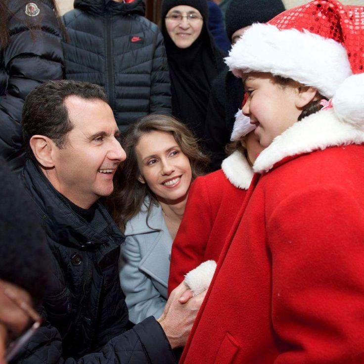 Syrský prezident Assad mezi křesťany