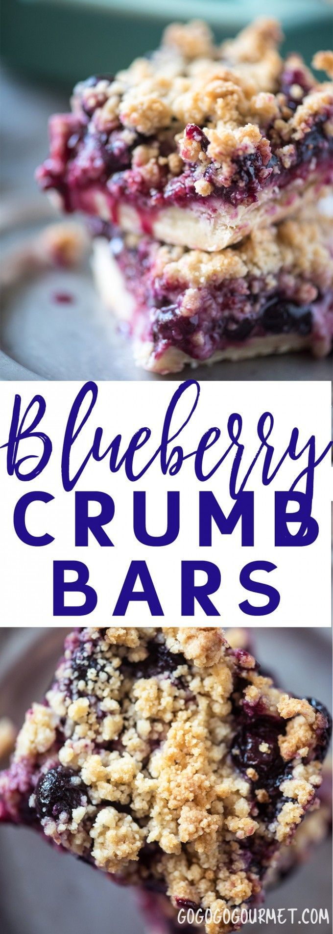 These Blueberry Crumb Bars are basically a portable Blueberry Crumb Pie that you eat with your hands!    via @gogogogourmet