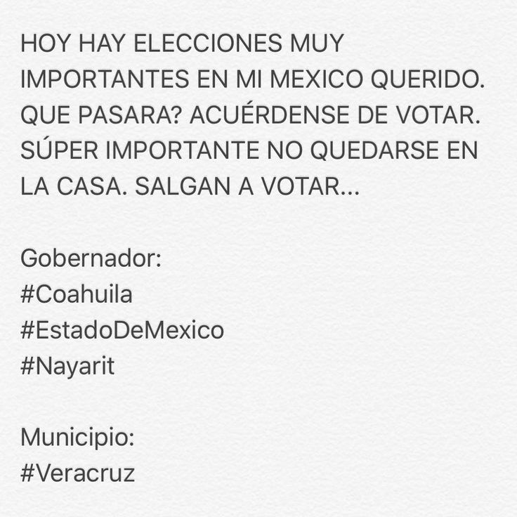 Message for Mexico only. We have an important election today... #Mexico