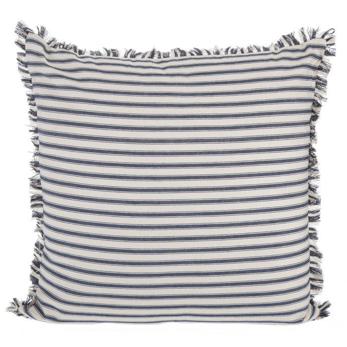 Navy Cream Ticking Striped Pillow Hobby Lobby 1601939 Pillows Velvet Pillows Stripe Pillow