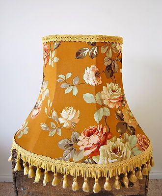 Large Original Vintage 1950s Floral Standard Lampshade Shabby Chic | eBay