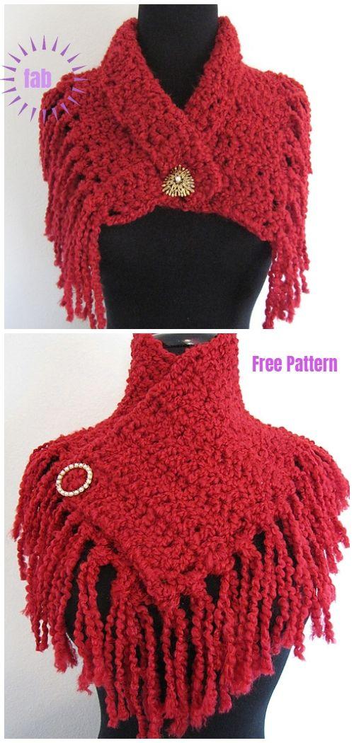 Super Quick And Easy Scarflette Free Crochet Pattern Crochet