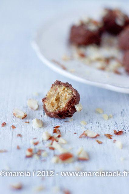 Peanut butter balls - Rochers chocolat au beurre de cacahuètes - Recette - Marcia 'Tack