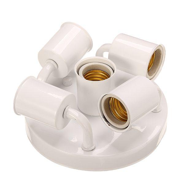 5 Heads E27 Ceramic Screw Elbow Lamp Holder For Diy Lighting Lamp Holder Diy Lighting Bulb Adapter
