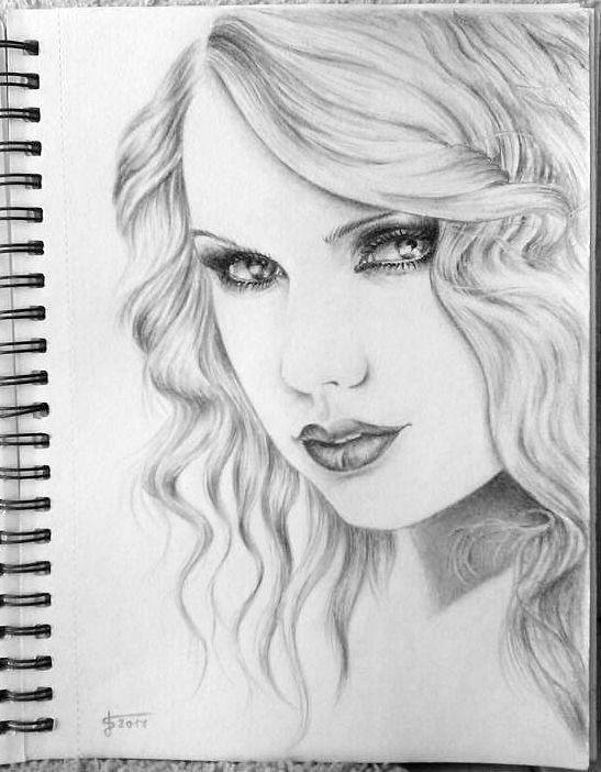 Jano S.  Taylor Swift, A4, kreslené ceruzou, giocondou, 2017
