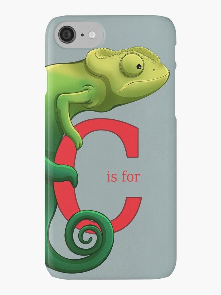 C is for Chameleon alphabet art print iPhone Cases and Skins by AnMGoug on Redbubble. #chameleon #iPhone #alphabet #cute
