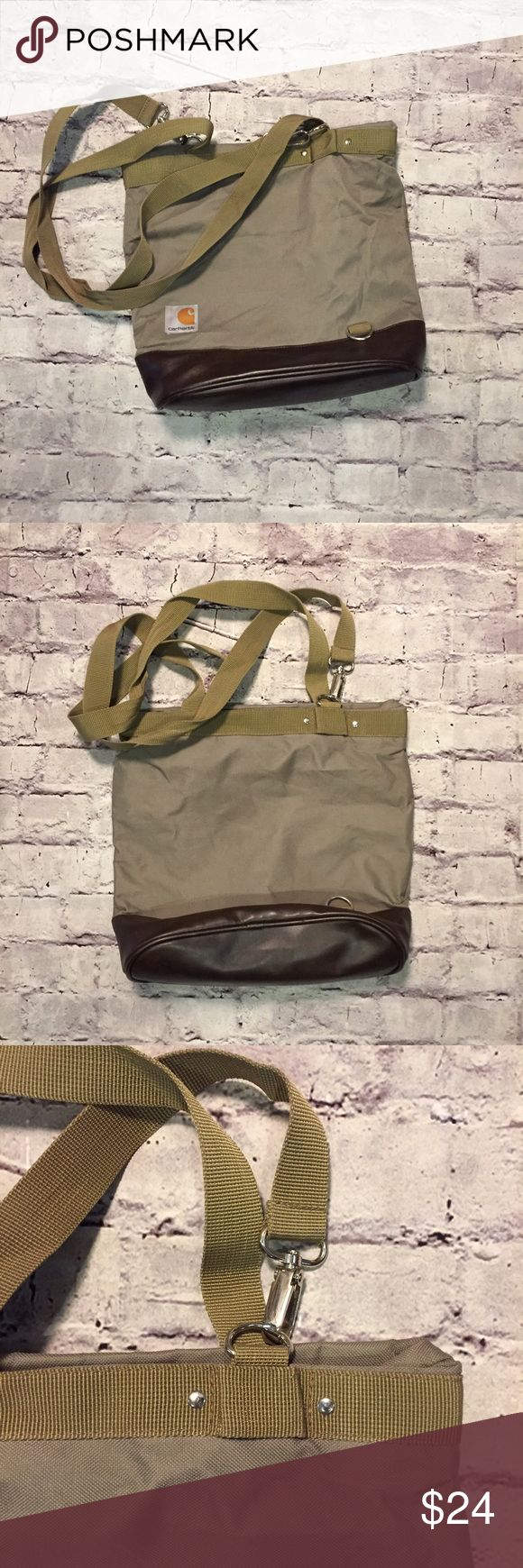Canvas Carhartt Tote Bag Versatile Carhartt Women's Tote Handbag in great condition. Some inside wear (will improve with cleaning). See photos for complete condition information. Carhartt Bags Totes