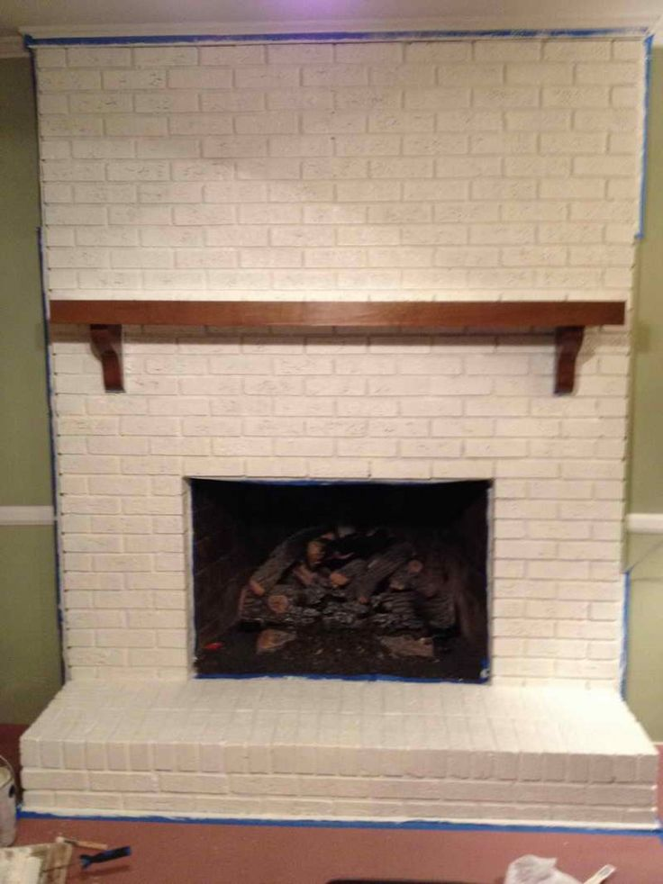 Gorgeous Sponge Painting Brick Fireplace All Modest Paint ...