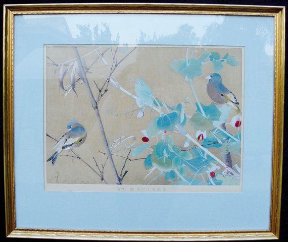 Rakuzan Kachou Gafu [100 Series] #25 Red Pea and Oriental Greenfinches (Late…