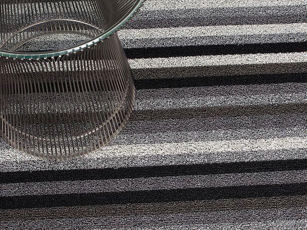 Even Stripe Indoor/Outdoor Mat   Mineral