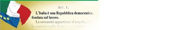 Festa del lavoro in Italia.    Art.1 della costituzione Italiana.