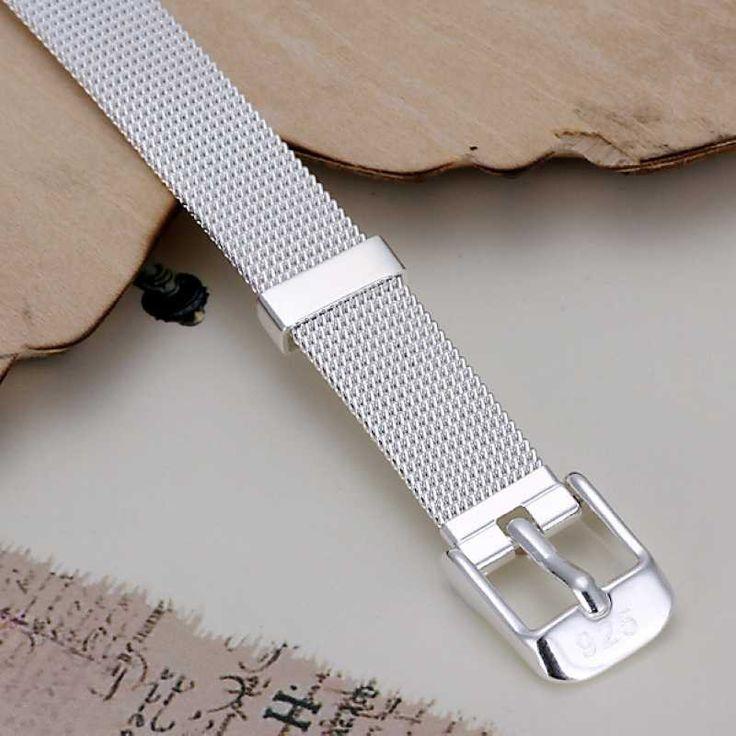 925 Sterling Silver Belt Bracelet Bangle Punk High Quality ELITE Fashion